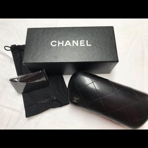 Chanel Eyeglass/Sunglass Case with Accessories
